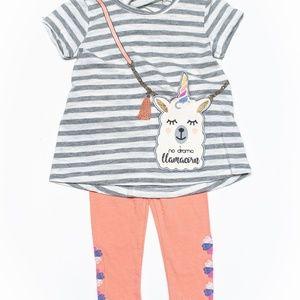 Jessica Simpson Baby Girl Llama Legging Set 12m